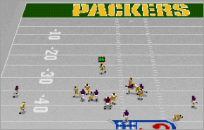 Front Page Sports Football Pro \'95 Packers vs. Vikings in Green Bay. Of couse it is butt cold out!