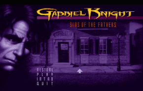 Gabriel Knight: Sins of the Fathers title screen